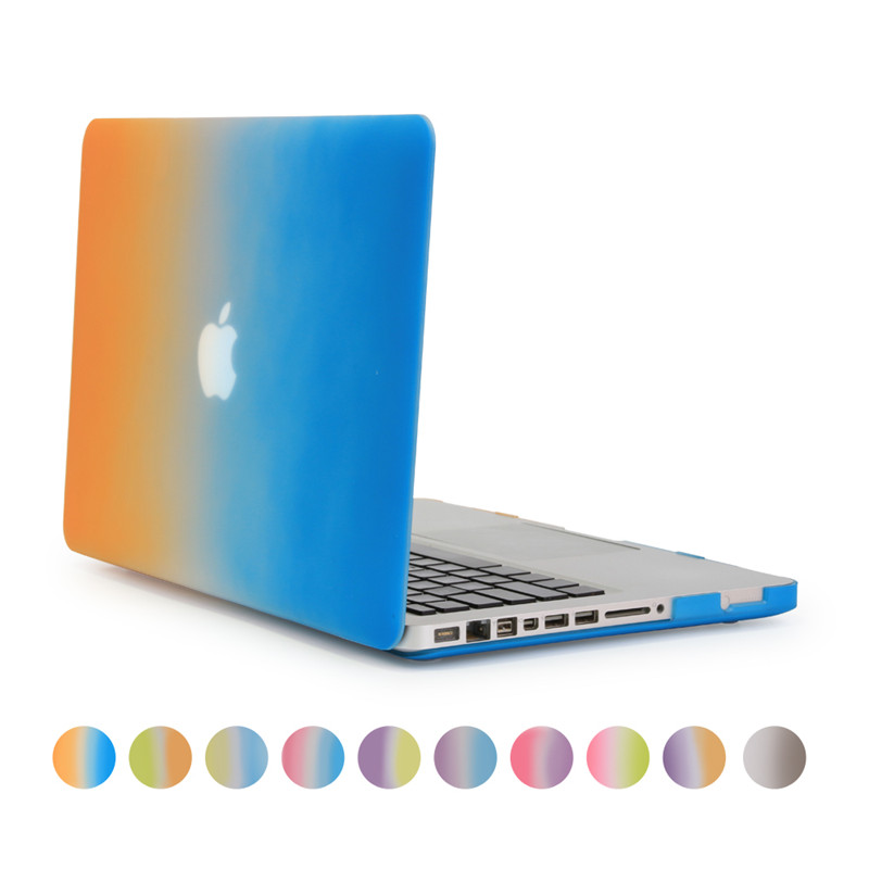 for macbook pro 15 rainbow gradient case hard plastic full protect cover for apple mac book 15inch pro no retina display