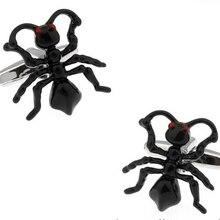 Новое поступление муравей Черный Цвет Медь Новинка насекомое Стиль манжеты для мужчин оптом запонки