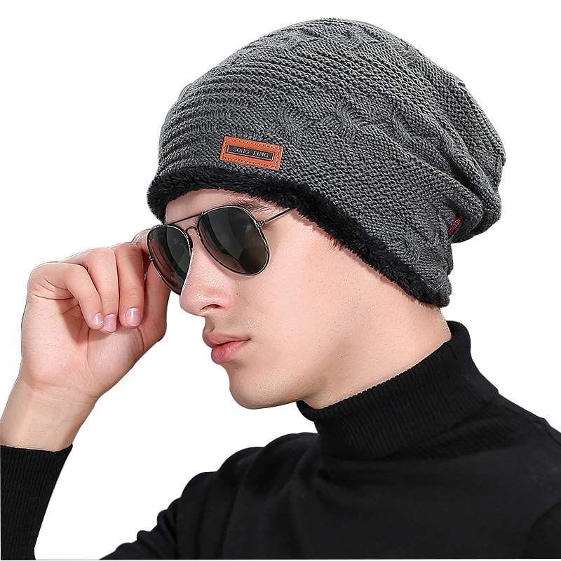 2016 New Fashion Men Gorro Wool cap Winter balaclava knitted mink Hat Outdoor Stripe Increase Flowers Warm Hats Vogue Beanies foreign trade explosion models in europe and america in winter knit hat fashion warm mink mink hat lady ear cap dhy 36