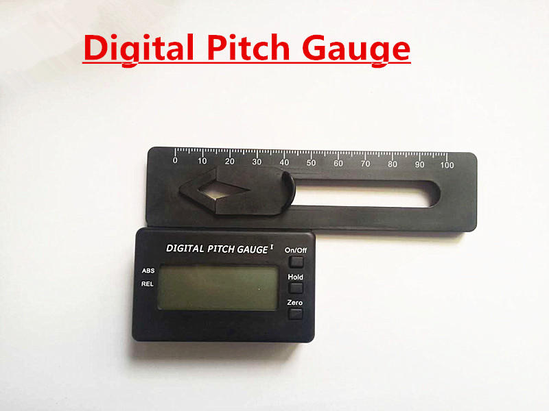 LCD display Digital Pitch Gauge Blades degree angle for align 450 700 RC heli AU
