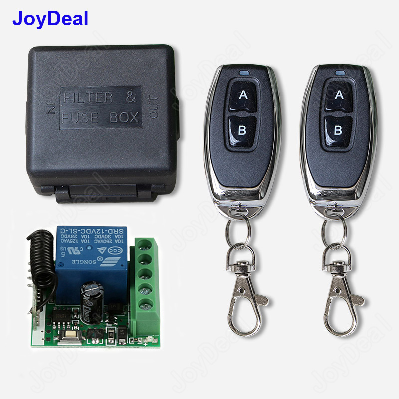 433 mhz universal wireless remote control switch dc 12 v 1ch relay receiver  module