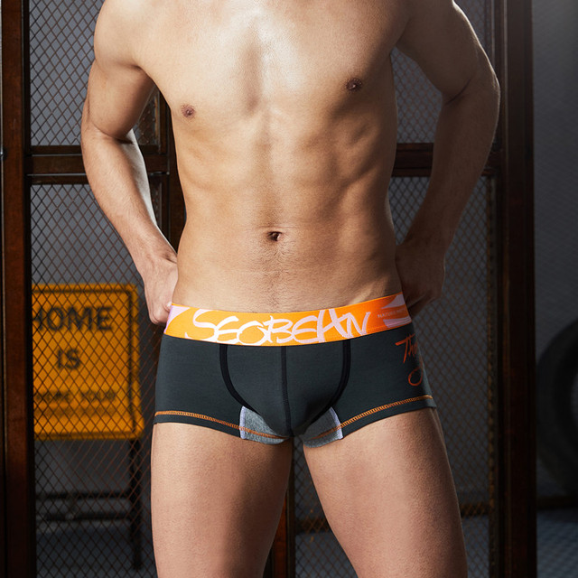 3pcs/lot SEOBEAN Men Underwear Boxers Shorts Cotton Men Boxers Solid Men Soft Underpants Underwear cotton Boxers Men