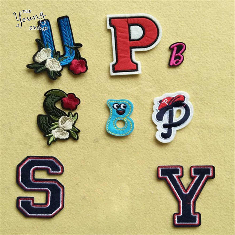 High quality Letter Patches Cartoon S U P Embroidered Iron On Patch For Jacket Jeans Applique Applique DIY Clothing Accessory