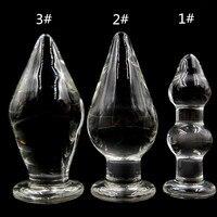 80มิลลิเมตรขนาดใหญ่ขนาดใหญ่ขนาดใหญ่Pyrexแก้วก้นเซ็กส์ทอยคริสตัลก้นก้นเสียบสำหรับผู้หญิงและ...