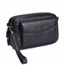 Norbinus кожаные мужские сумки-клатчи из натуральной кожи Длинные кошельки на молнии напульсники кошелек для денег чехол для телефона Мужская удобная сумка