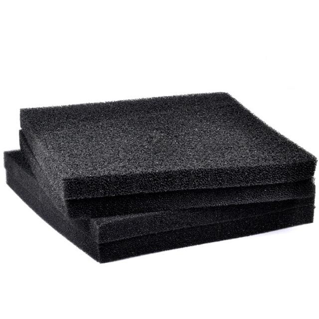 1 Piece 3 Sizes Aquarium Black Filtration Foam 2