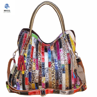 cow Leather Women bags Shoulder Crossbody Genuine Leather Bags for women fashion design tote bag colorful tassel snake bag