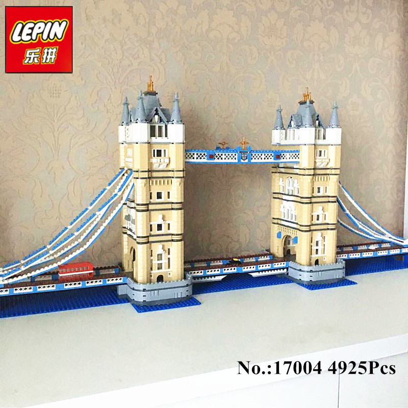 IN--STOCK  Free Shipping New LEPIN 17004 4295pcs London bridge Model Building Kits  Brick Toys Compatible  10214 mr321a 12h new in stock