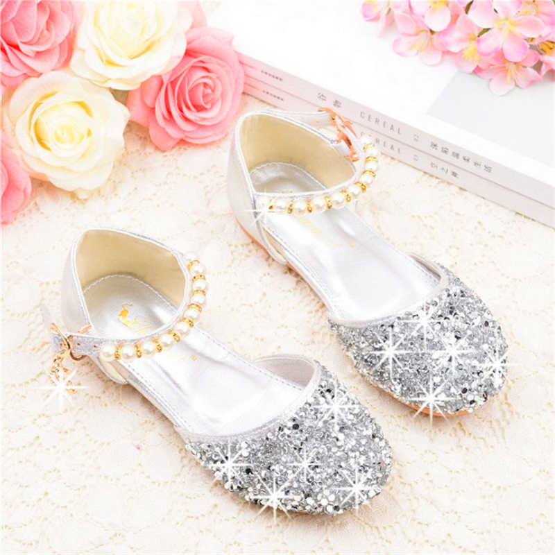 9a42e9875066 2019 new girls birthday party sandals princess baby girl shoes Toddler  Infant Kids Pearl Bling Sequins