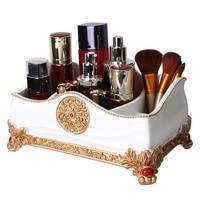 Luxury Cosmetic Lipstick Holder Resin Makeup Organizer Cosmetic Holder tissue box ashtray Toothpick Holder Tools Storage