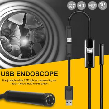 6LED 5.5mm Hose USB Mobile Phone Endoscope Hard Tube Channel Air Conditioning Auto Repair Camera 1