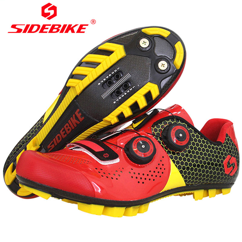 SIDEBIKE Carbon Fiber Road Cycling Shoes For Bicycles Men Mountain Bike Sneakers Self-locking Sapatilha Ciclismo Chaussure Velo sidebike high quality men cycling shoes self locking road bike shoes s2 snap knob bicycle shoes ultralight sapatos de ciclismo