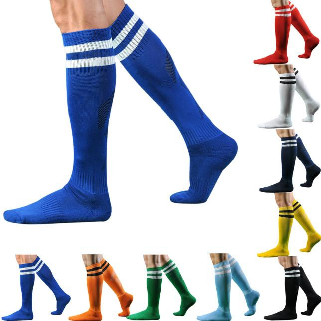 High Quality Fashion Mens Socks Baseball Long Cotton Striped High Sock For Male Drop Shipping