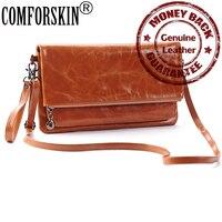 Luxurious Oil Wax Leather Retro Style Feminine Locomotive Handbag Designer High End Market Cow Leather Messenger