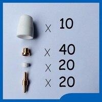 Free Shipping 90PCS PT 31 LG 40 Air Plasma Cutter Cutting Torch Accessories KIT Plasma Nozzles