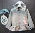 Varejo Novas meninas jaqueta de coelho projeto animal bebê algodão primavera outono crianças casaco menina jaquetas crianças casaco para as meninas roupas