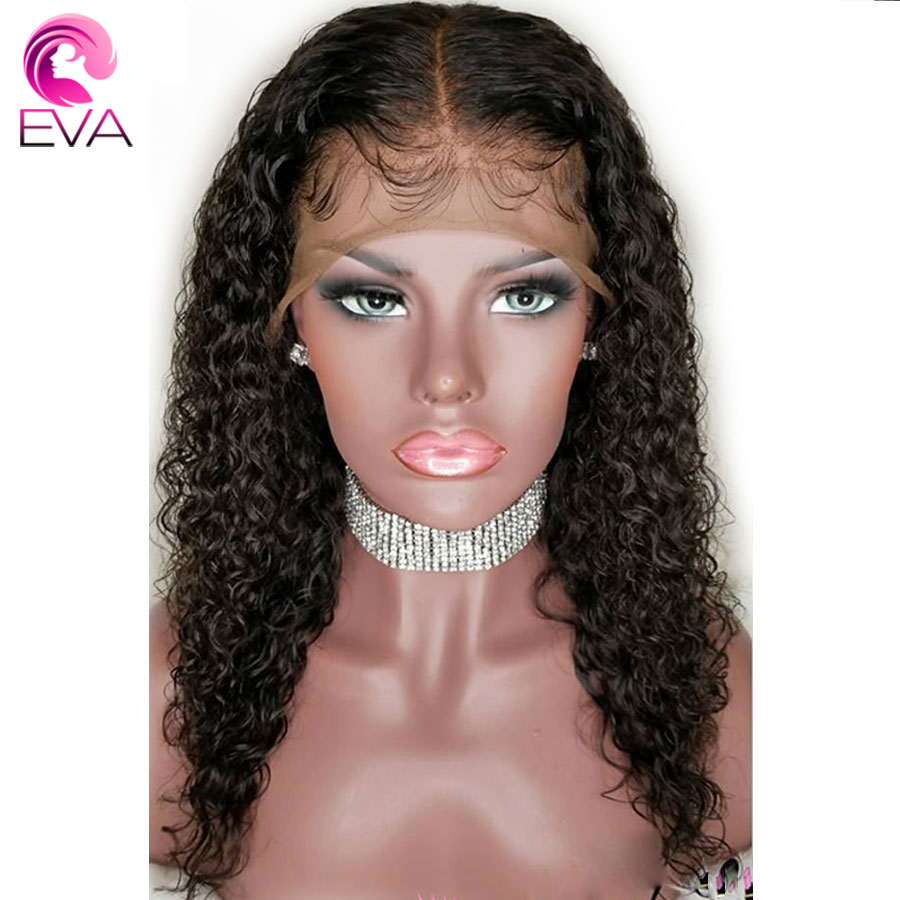 Eva Curly 360 Lace Frontal Wig Pre Plucked With Baby Hair 180% Density Lace Front Human Hair Wigs For Women Brazilian Remy Hair
