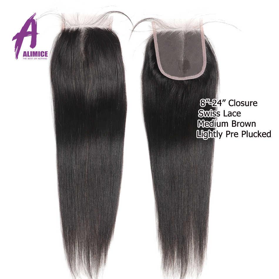 30 дюймов пучки с закрытием индийские прямые человеческие волосы пучки с закрытием alimice длинные волосы пучки с закрытием Noremy