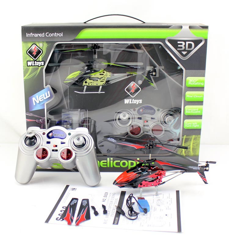 Wltoys S929 RC Helicopter 3 5 Channel Remote Control Helicopter with Gyroscope
