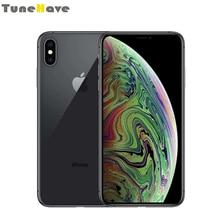 Мобильный телефон Apple iPhone XS Max 6,5 «Оригинальный разблокированный 2018 Face ID 4 аппарат не привязан к оператору сотовой связи 4 Гб Оперативная память 64 Гб/256 ГБ/512 ГБ Встроенная память 12MP iOS A12 смартфон с большим экраном