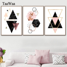 Geometric Marble Triangles Abstract Posters and Prints Minimalist Wall Art Canvas Painting Nordic Decoration Pictures Room Decor