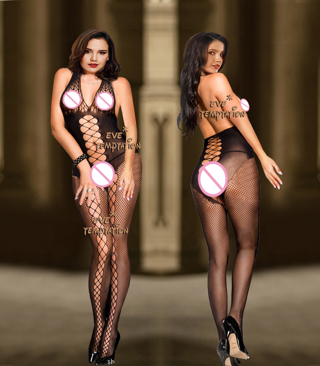 Buy Sexy Sleepwear Lingerie Babydoll BODYSUIT Mesh Body Stocking Temptation Intimate Catsuit Nightwear Garter  6223