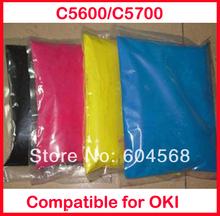 High quality color toner powder compatible for OKI C5600/C5700 Free shipping