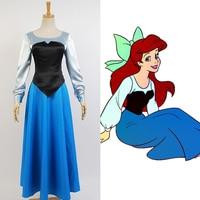 Adulto A Pequena Sereia Ariel Traje Cosplay The Little Mermaid Mulheres Vestido Cosplay
