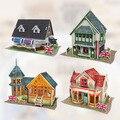 Original 3d diy England Italy Amorous Building grocery Bridal Tea House restaurant villa pier dollhouse match sylvanian families
