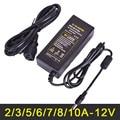 LED Strip Power Supply 2A 3A 5A 6A 7A 8A 10A Power Adapter Transformer AC110V-240V to DC 12V High Quality US/UK/EU/AU