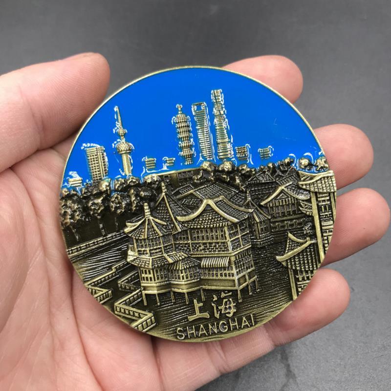 Heerlijk 1 Pc Fashion Metaal Magneet China Shanghai Yu Tuin Reizen Souvenir Koelkast Magnetische Stickers Home Decor Pure En Milde Smaak