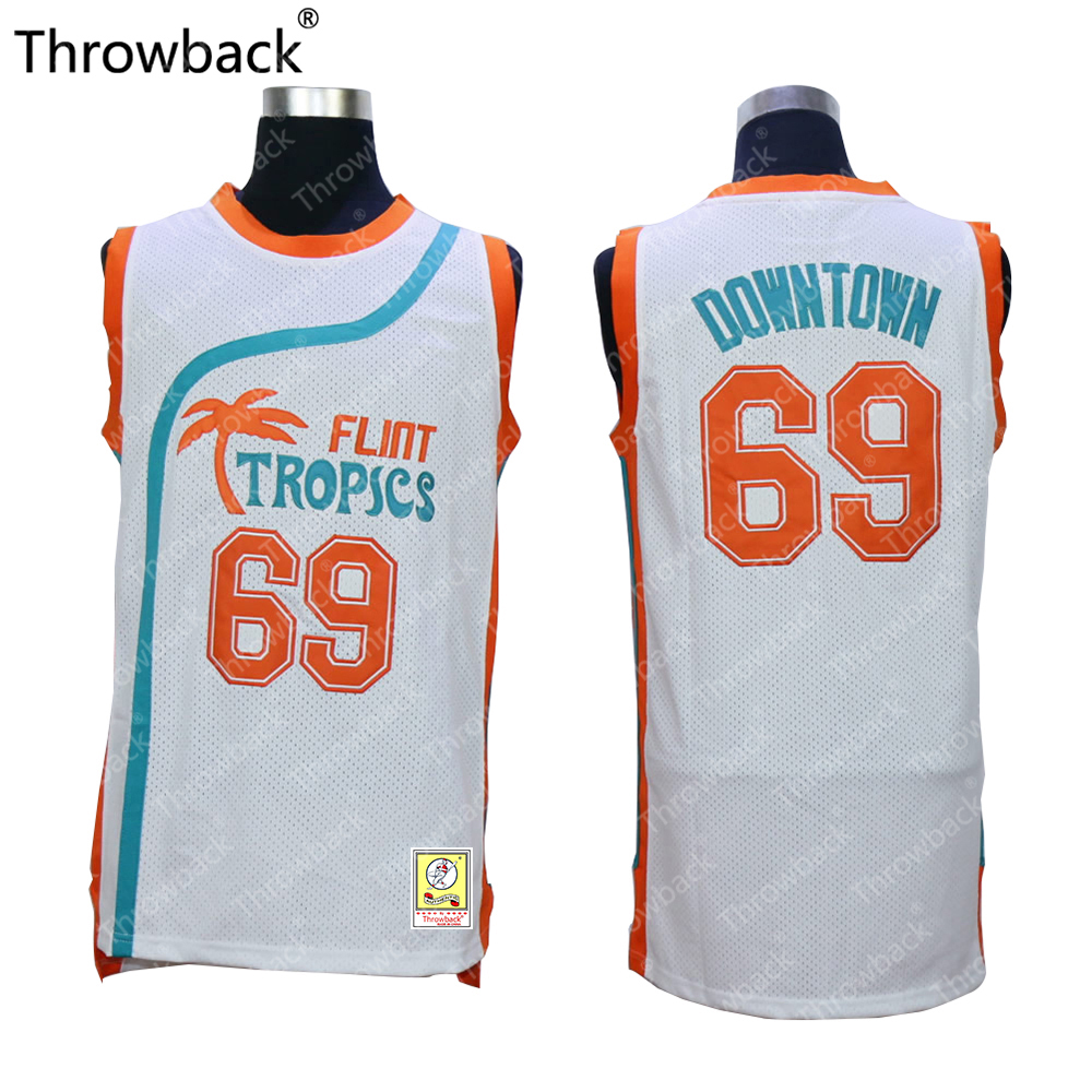 flint tropics 55 vakidis white semi pro movie stitched basketball jersey 9a3185b58