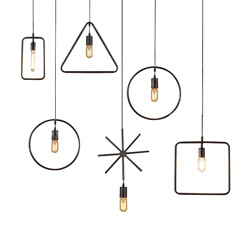 Vintage Black Geography Pendant Lights Home Lighting Fixture Restaurant Hanging Drop Lights Retro Loft Mini Pendant Lamp Iron in Pendant Lights from Lights Lighting
