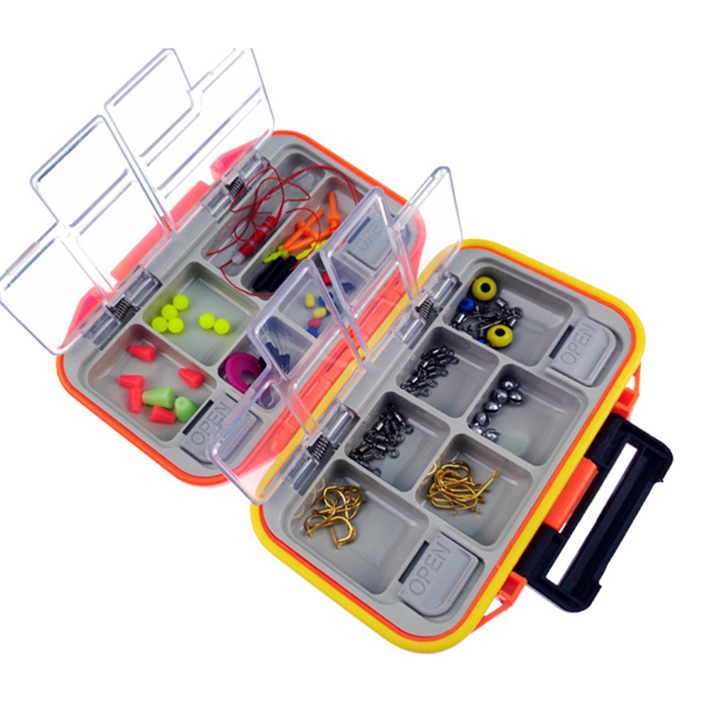 12 Grids Fishing Lure Compartments Storage Case Box Plastic Fish Lure Spoon Hook Bait Tackle Box Pesca Isca Fishhook Box