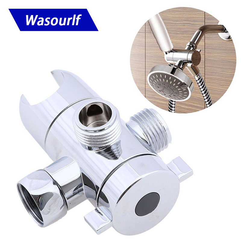 WASOURLF Handheld Shower Head Bracket Chrome Plated ABS Shower Holder Switching Diverter Free Shipping