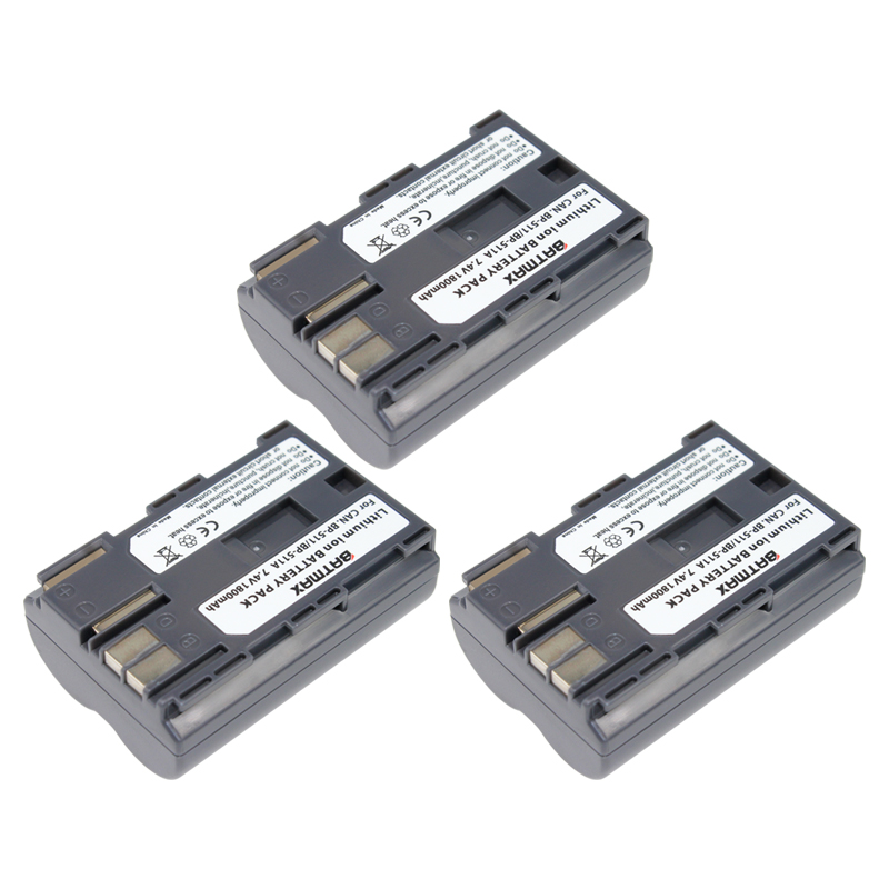 Batmax 3pcs Bp 511a Bp 511a Bp511a Bp 511 Battery For