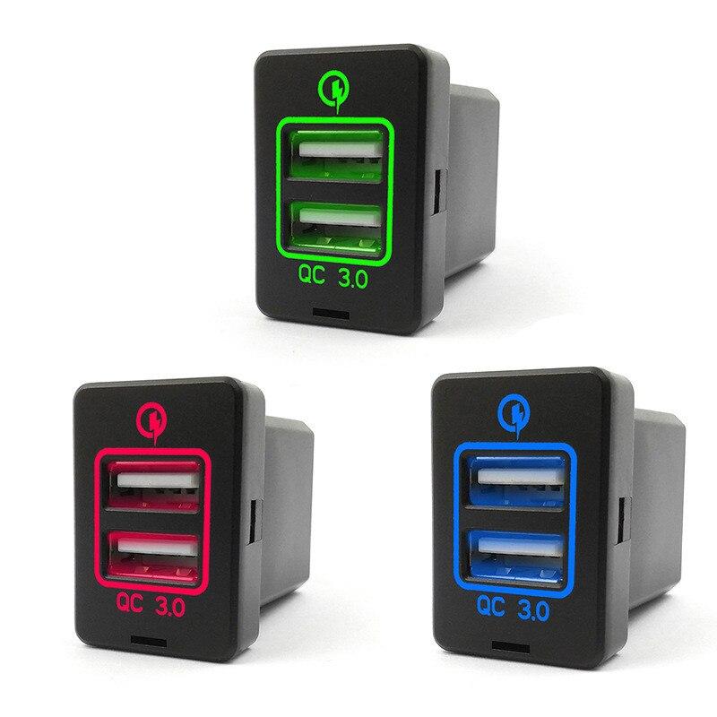 New Corolla Ralink Car Original Dual USB Charger Socket Modified Phone 3.0