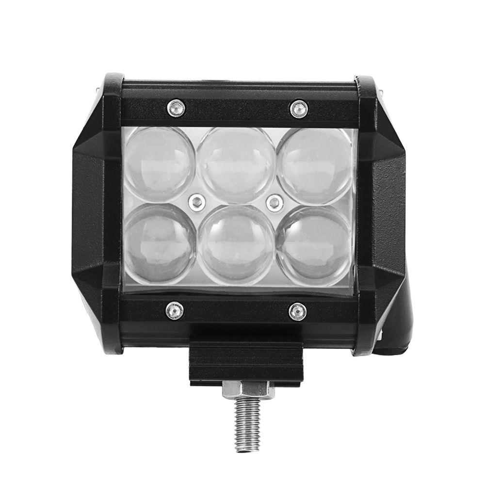 New 18W 4inch LED Work Light Bar 4D Reflect Lens With CREE Chip 6000K 12V Offroad Spot Driving Lamp For Jeep Toyota SUV 4WD Boat