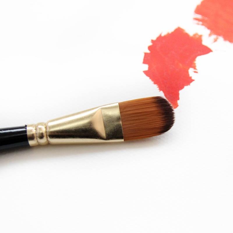Набор кистей для рисования для художника 5 шт Высокое качество нейлоновые волосы деревянной черной ручкой акварель масляная акриловая кисть для рукоделия 4
