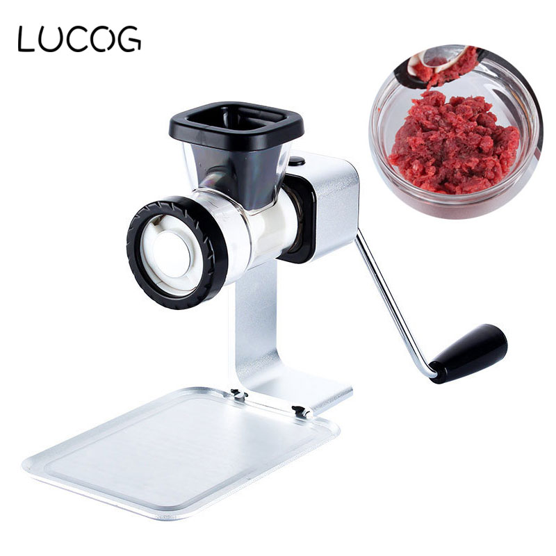 LUCOG Multifunction Meat Grinder Household Mincer with Stainless Blade Food Processor Cooking Machine Sausage Grinders for Home meat grinder household multifunction meat grinder high quality stainless steel blade home cooking machine mincer sausage machine