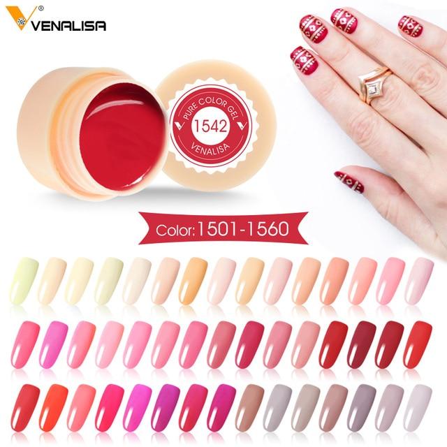 Venalisa ציור ג 'ל 5 ml CANNI עירום אדום חם מסמר אמנות באיכות גבוהה סלון מניקור 180 צבע UV LED קו ציור ציור UV ג 'ל