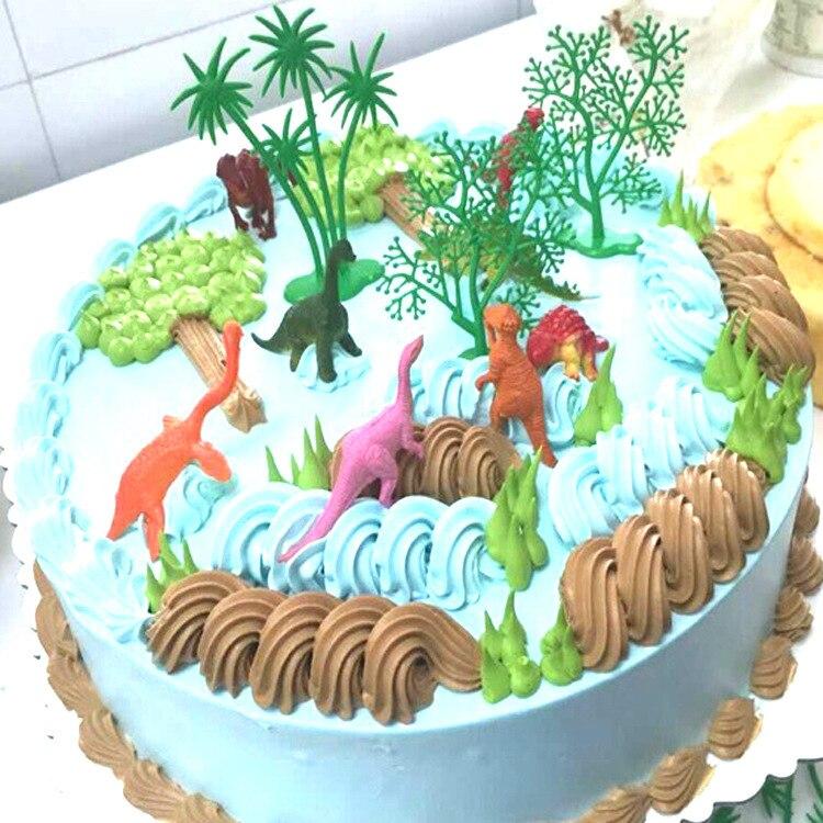 Fanlus Mini Dinosaurs Cake Decorating Supplies 12 Dinosaurs 4 Palm