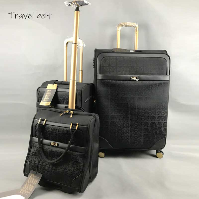 Extra Large Volume 28 Inch Oxford Rolling Luggage Set Spinner  Brand Suitcase Wheels Stripe Carry On Travel Bags