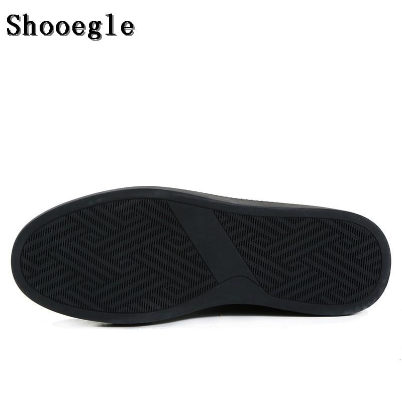 Rhinestone Leather Sapatos Moda as Hightop Flat Pic Black Sapatas Homens Sapatilhas Homem Shooegle Bordados Preto Alpercatas Dos Plataforma Casuais 5OESwnxq