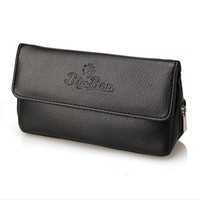 Nieuwe 1 stks Leather Case Pouch Pijp Pijp Somking Pijp Houder Tabakszak Humindor Roken Accessoires hotsale zwart/bruin