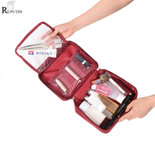 RUPUTIN High Capacity Cosmetic Storage Bags Travel Organizer Makeup Bag For Women Men Necessaries Make Up Case Wash Toiletry Bag lhlysgs brand women double storage large waterproof makeup bag travel cosmetic bag organizer case necessaries wash toiletry bag