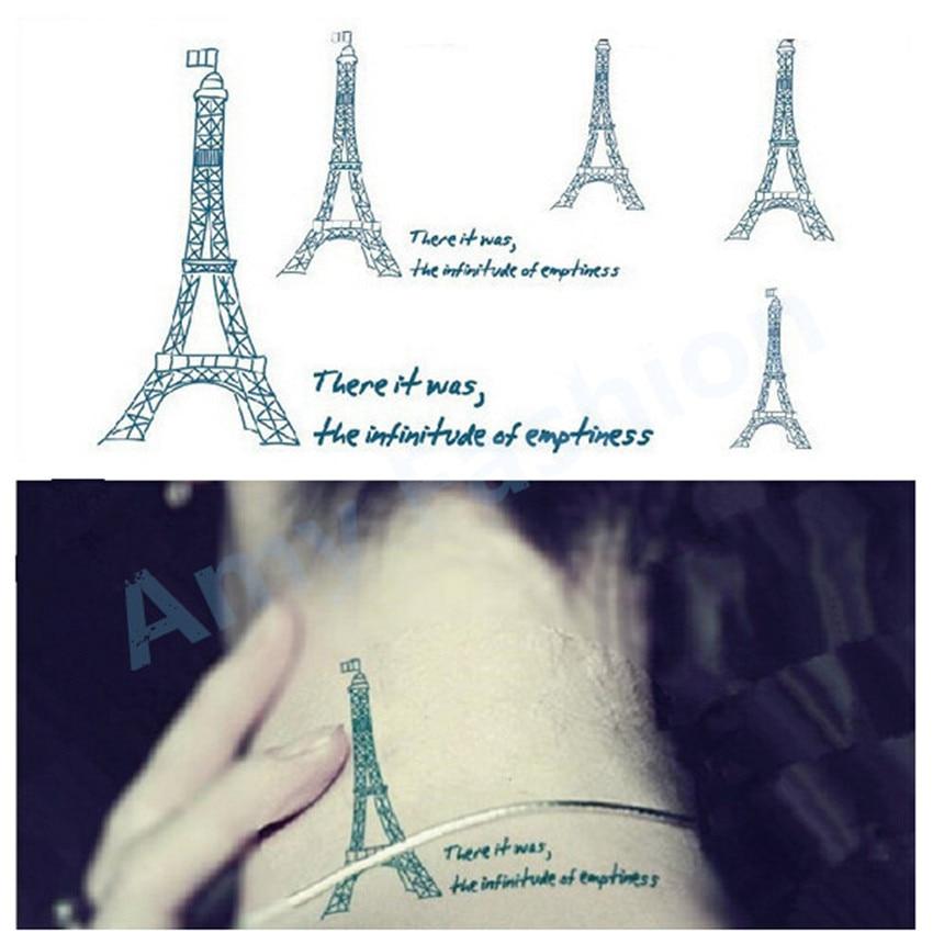 Flash Tattoos Temporary Tattoo Body Jewelry Men Women Waterproof Fresh Pylon Tower Body Art Painting Paper Stickers Her Gift