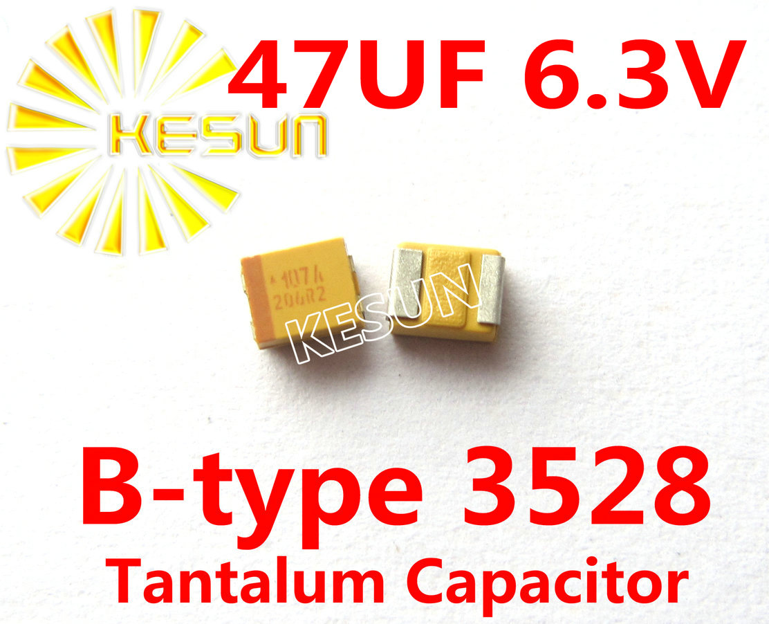 47UF 6 3V B type 1210 3528 476JC SMD Tantalum font b Capacitor b font Connector