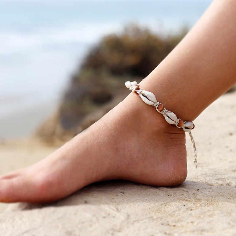ZORCVENS Boho Multilayer ลูกปัด Anklets สำหรับสตรี Vintage เชือกข้อเท้าสร้อยข้อมือขาเท้าฤดูร้อน