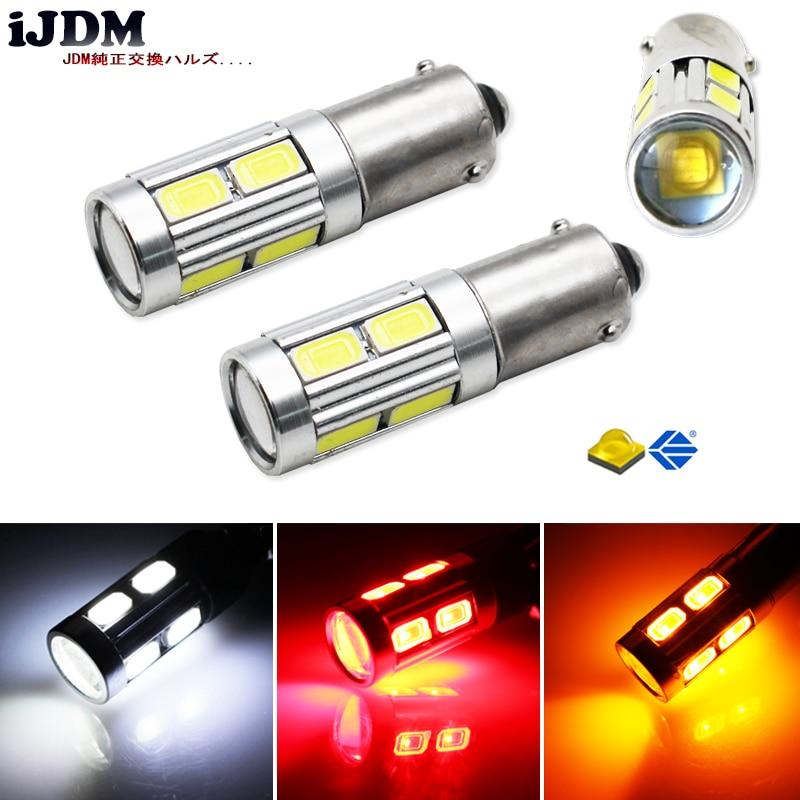 (2) 360 градусов Ксеноновые лампы белого 3 Вт КРР электронные ж/ 8-для поверхностного монтажа BAX9S Н6ВТ 150 градусов светодиодный замена лампы для резервного копирования габаритные огни или